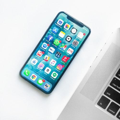A smartphone screen